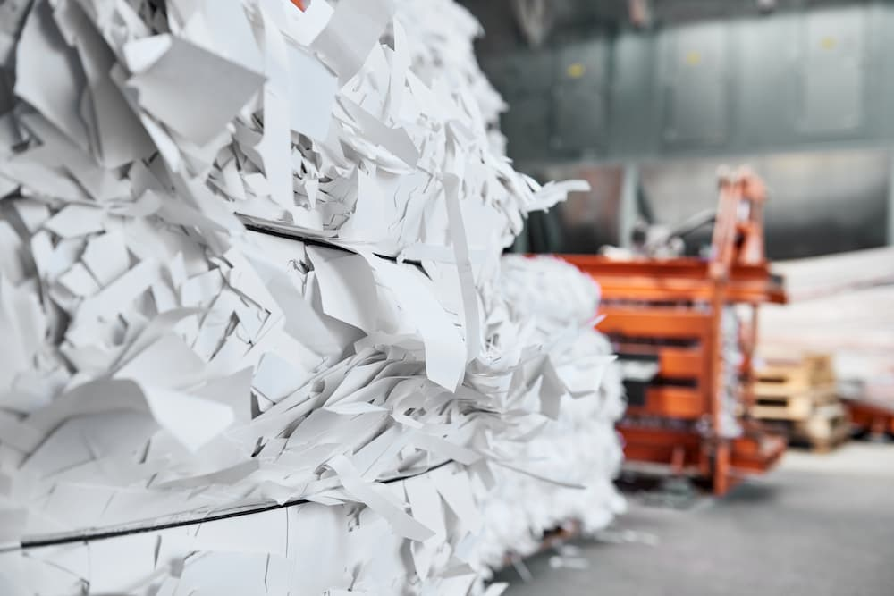Blades for industrial paper shredder